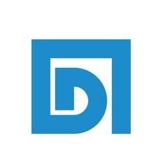 D letter initial logo design