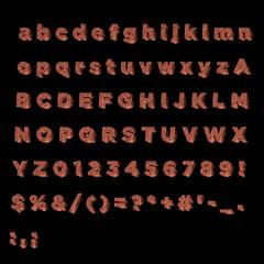 3D Font Copper- Full Alphabet
