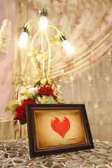 old heart picture frame for love, included clipping path