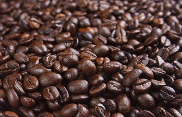 pile beans coffee for background