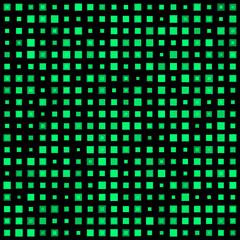 Green squares on a dark background. Vector illustration.