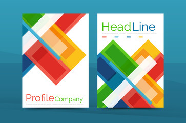 Modern colorful line composition designs