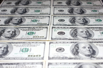 heap of paper dollars as part of the global economy