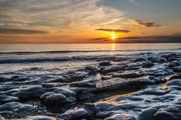 coucher de soleil à Audresselles