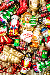 Christmas baubles toys garlands decorations ornaments