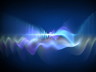 Keuken foto achterwand Fractal waves Sound waves - abstract design element