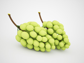 Green grapes rendered