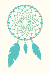 Vector Shamanic Vintage Dreamcatcher Illustration