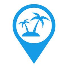 Icono plano localizacion isla azul