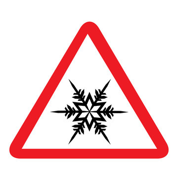Cold road sign