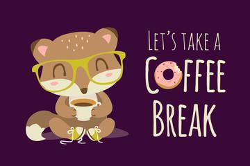 vector coffee break illustration