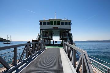 Car ferry on Garda Lake in Italy