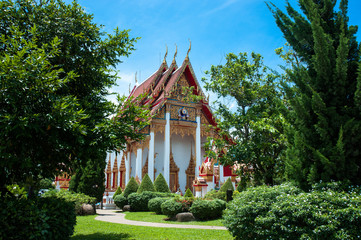 The temple complex of Wat Chalong in Phuket, Thailand