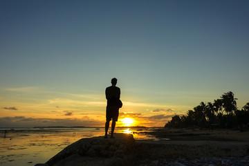 Solo Traveler Enjoying Sunset
