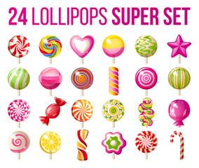 lollipops icons set