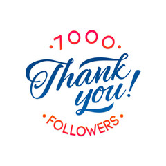 Thank you 7000 followers card. Vector thanks design template for network friends and followers. Image for Social Networks. Web user celebrates a large number of subscribers or followers