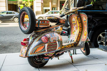 colorful decorative scooter