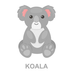 Koala icon cartoon. Singe animal icon from the big animals set.