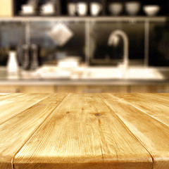 table background of kitchen room