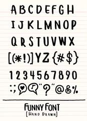 Hand drawn alphabet font,pen stroke alphabet,modern style