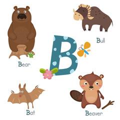Cute zoo alphabet