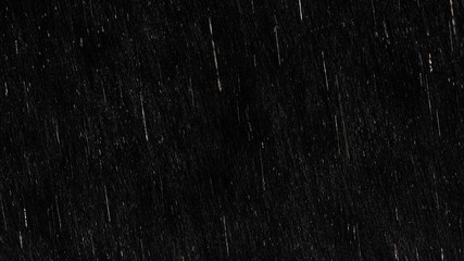 Falling raindrops footage animation in slow motion on black background, black and white luminance matte, rain animation with start and end, perfect for film, digital composition, projection mapping Wall mural