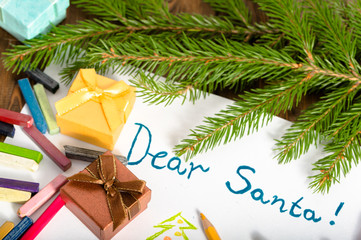 Traditional Christmas letter to Santa Claus