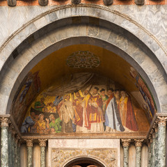 Architectural section of San Marco church in Venice