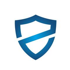 Vector Blue Shield Letter Z Logo