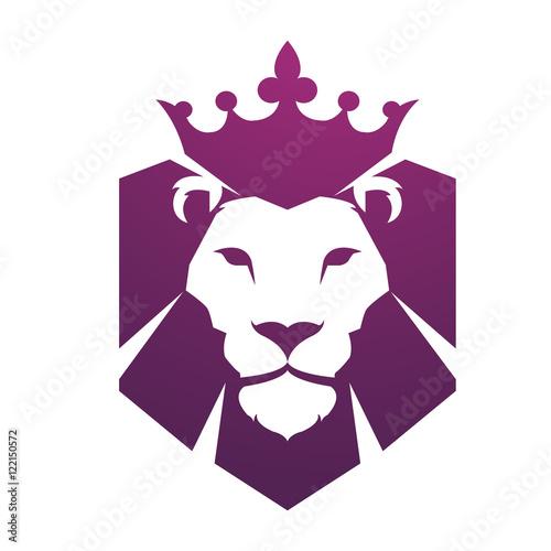 Vector Purple Head Lion Logo