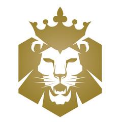 Vector Golden Lion Head Logo