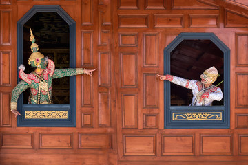 STRICTLY KHON DANCING (THOTSAKAN): PERFORMERS of one of Thailand's most highly regarded dances are keeping the tradition alive, despite the recent decline in popularity of the art form
