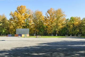 осенний пейзаж, осень в парке.