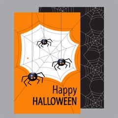 Halloween card. Happy Halloween. Flat design Vector illustration.