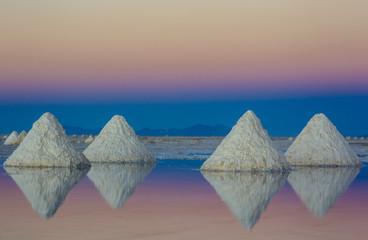Salzberge auf dem Salar de Uyuni, Teleaufnahme