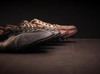 Grandpa's sport shoes on wood