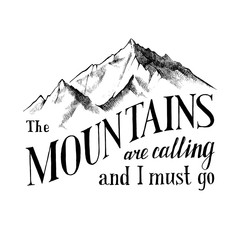 the mountains are calling and I must go - emblem