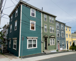 Colorful houses in St. John's, Newfoundland and Labrador, Canada
