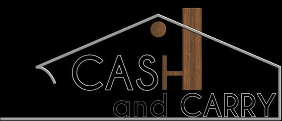 Cash and Carry con il simbolo edificio metallo e legno