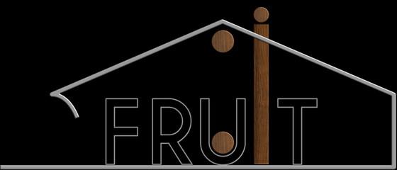Fruit con il simbolo edificio metallo e legno