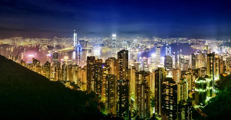 Hong Kong City : Night time.