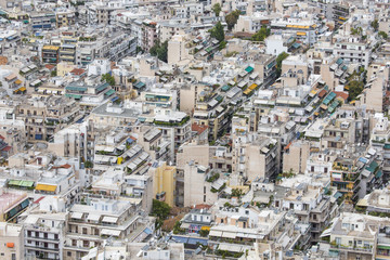 Aerial view of Athens, Greece. Athens is the capital of Greece a