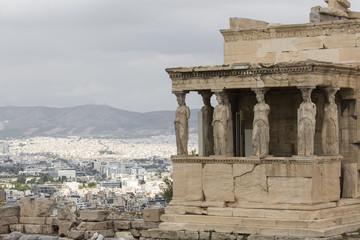 Caryatides at Acropolis, Athens, Greece