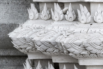 Thailand traditional style carved plaster