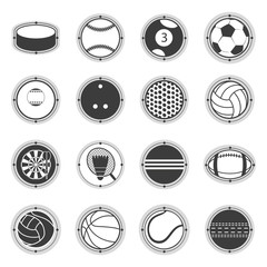 Sports Balls. Football, basketball, golf, volleyball, hockey, american , tennis, billiard, baseball, bowling, cricket, croquet, badminton, darts, , ping pong
