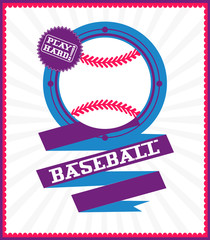 Sports games. Sport ball. Baseball poster