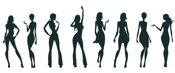 attractive female silhouettes