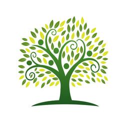 Vector Green Tree People Logo