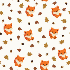 Baby fox seamless wallpaper