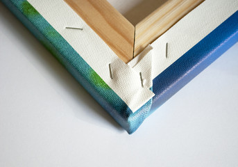 Bespannter Keilrahmen rückseitig, Canvas, Leinwand
